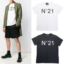 N21 numero ventuno Crew Neck Unisex Street Style Plain Cotton Short Sleeves