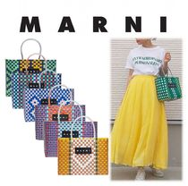 MARNI Other Check Patterns Flower Patterns Handmade PVC Clothing