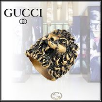 GUCCI Street Style Other Animal Patterns Metal Rings