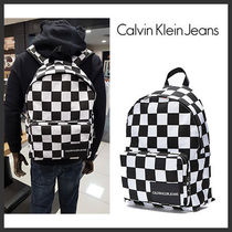 Calvin Klein Other Check Patterns Unisex Street Style Backpacks