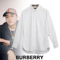 Burberry Tartan Street Style Long Sleeves Plain Cotton Shirts