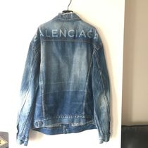 BALENCIAGA Casual Style Unisex Denim Medium Logo Jackets