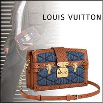 Louis Vuitton MONOGRAM 19-20AW TRUNK CLUTCH DENIM denim free clutches