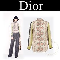 Christian Dior Silk Street Style Long Sleeves Other Animal Patterns Medium