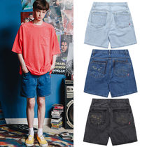 WV PROJECT Unisex Denim Street Style Plain Shorts