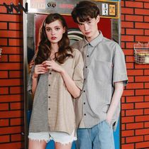 WV PROJECT Other Check Patterns Casual Style Unisex Street Style Long