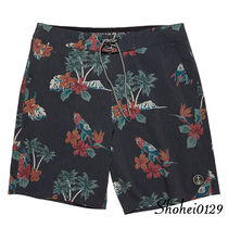 Ron Herman Tropical Patterns Street Style Plain Handmade Beachwear