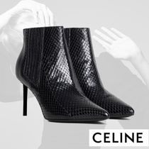 CELINE Other Animal Patterns Leather Pin Heels Elegant Style