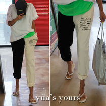 Casual Style Street Style Bi-color Cotton Long