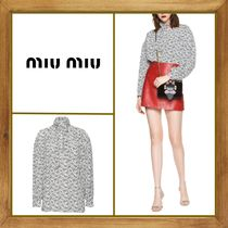 MiuMiu Star Silk Long Sleeves Shirts & Blouses