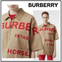 Burberry Cotton Short Sleeves Shirts & Blouses