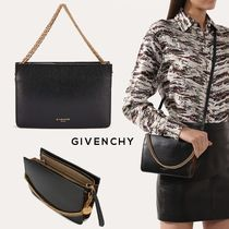 GIVENCHY CROSS3 Leopard Patterns Calfskin 3WAY Chain Elegant Style