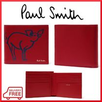 Paul Smith Unisex Street Style Other Animal Patterns Leather