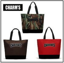 Charm's Unisex Street Style A4 Totes