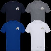 MONCLER Crew Neck Plain Short Sleeves Crew Neck T-Shirts