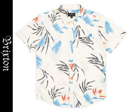 Tropical Patterns Street Style Short Sleeves Surf Style