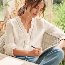 SEZANE Cropped Plain Shirts & Blouses
