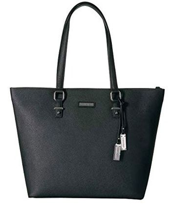 Plain Leather Logo Totes