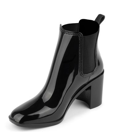 Rubber Sole Plain PVC Clothing High Heel Boots