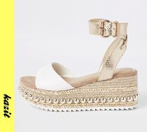 River Island Casual Style Faux Fur Platform & Wedge Sandals