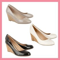 Lipsy Round Toe Plain Party Style Wedge Pumps & Mules