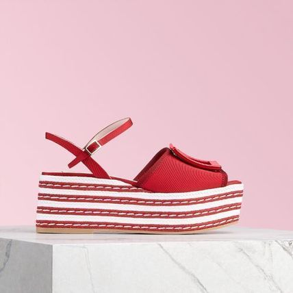 Open Toe Platform Casual Style Platform & Wedge Sandals
