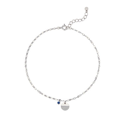 Chain Silver With Jewels Elegant Style Anklets