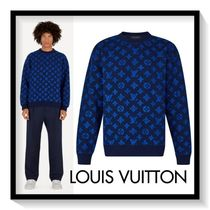 Louis Vuitton Pullovers Monogram Wool Long Sleeves Sweatshirts