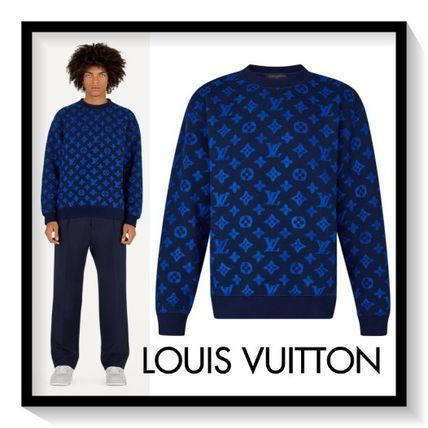 Louis Vuitton Sweatshirts Pullovers Monogram Wool Long Sleeves Sweatshirts
