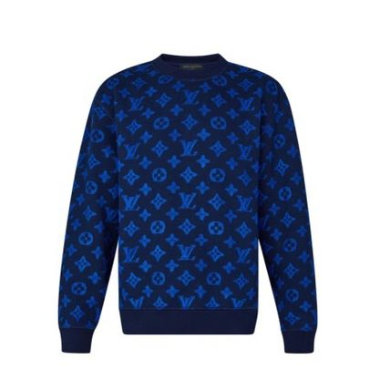 Louis Vuitton Sweatshirts Pullovers Monogram Wool Long Sleeves Sweatshirts 2