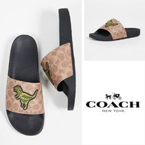 Coach Street Style Shower Shoes PVC Clothing Shower Sandals