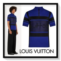 Louis Vuitton Pullovers Blended Fabrics Long Sleeves Cotton Tops