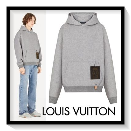 Louis Vuitton Hoodies Pullovers Wool Plain Hoodies