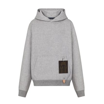 Louis Vuitton Hoodies Pullovers Wool Plain Hoodies 2