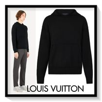 Louis Vuitton Pullovers Cashmere Long Sleeves Plain Hoodies