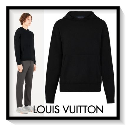 Louis Vuitton Hoodies Pullovers Cashmere Long Sleeves Plain Hoodies