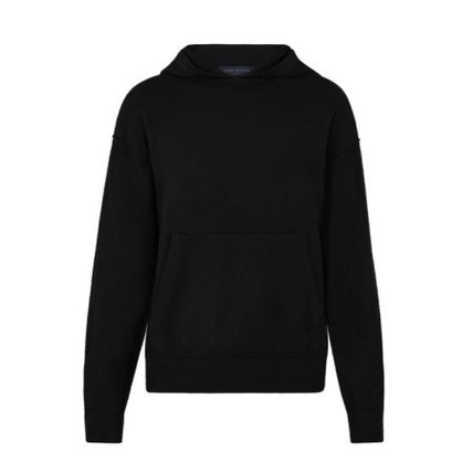 Louis Vuitton Hoodies Pullovers Cashmere Long Sleeves Plain Hoodies 2