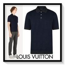 Louis Vuitton Pullovers Plain Cotton Short Sleeves Polos