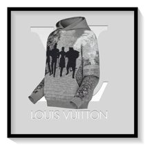 Louis Vuitton Pullovers Long Sleeves Plain Cotton Hoodies