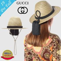 GUCCI With Jewels Straw Hats
