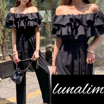 Dungarees Casual Style Plain Long Dresses