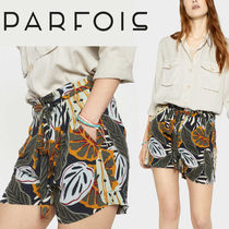 PARFOIS Short Flower Patterns Tropical Patterns Casual Style Shorts
