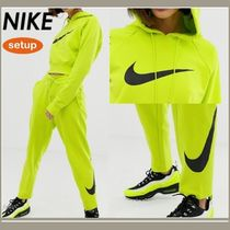 Nike Crew Neck Sweat Street Style Long Sleeves Plain Dresses
