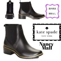 kate spade new york Rubber Sole Plain Rain Boots Boots
