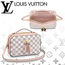 Louis Vuitton DAMIER AZUR Other Check Patterns Blended Fabrics Tassel 3WAY Leather