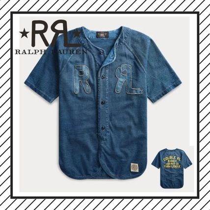 Button-down Street Style Cotton Short Sleeves T-Shirts