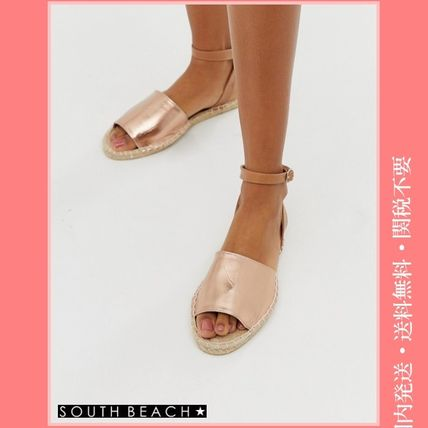 Open Toe Rubber Sole Casual Style Sandals