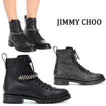Jimmy Choo Star Casual Style Studded Street Style Plain Leather
