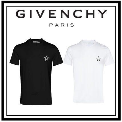 GIVENCHY Crew Neck Crew Neck Pullovers Unisex Plain Short Sleeves