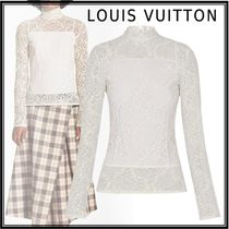 Louis Vuitton 19-20AW LONG SLEEVED LACE TOP white 34-40 T-Shirts